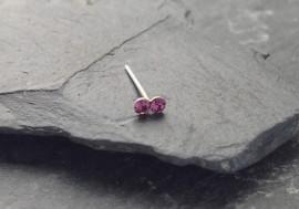 DESTOCKAGE Piercing nez 2 pierres - violet