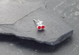 Piercing nez argent cerises de pierres