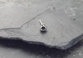 Piercing nez coeur et pierre - noir
