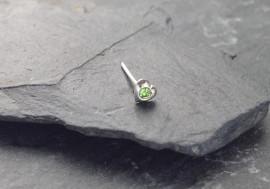 DESTOCKAGE Piercing nez coeur et pierre - vert clair