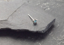 Piercing nez étoile - bleu turquoise