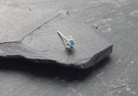 Piercing nez argent 925 fleur turquoise