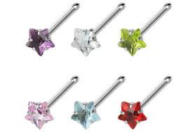 Piercing nez acier et pierre étoile