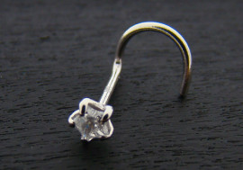 Piercing nez or blanc 14K étoile 3mm