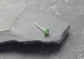 Piercing nez pierre carrée - vert clair