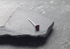 Piercing nez pierre carrée - violet