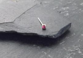 Argent pierre griffée 2mm - rose