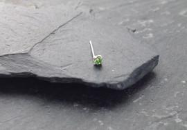 Argent pierre griffée 2mm - vert clair