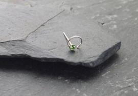 Piercing nez spirale et pierre - vert clair
