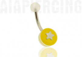 DESTOCKAGE Piercing nombril jaune étoile