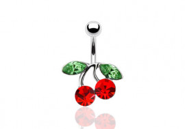 Piercing nombril cerise rouge