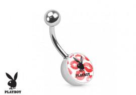 Piercing nombril Playboy® lapin noir bisous