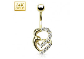 Piercing nombril double coeur