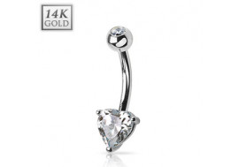 Piercing nombril coeur