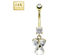 Piercing nombril papillon de marquise