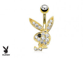 Piercing Nombril lapin Play Boy ® Or jaune