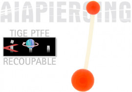 piercing nombril PTFE rouge