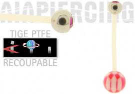 piercing nombril damier fushia et cristal