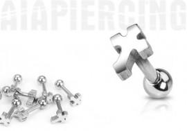 Piercing tragus croix