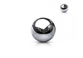Piercing accessoire Bille acier chirurgical 1,2mm