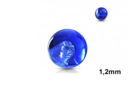 Accessoire piercing bille acrylique bleue 1,2mm
