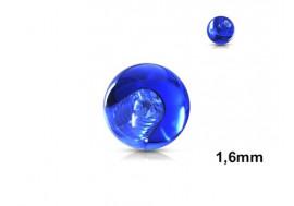 Accessoire piercing bille acrylique bleu 1,6mm