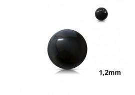 Accessoire piercing bille acrylique noire 1,2mm