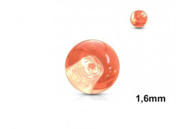Accessoire piercing bille acrylique orange 1,6mm