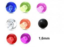 Accessoire piercing bille acrylique 1,6mm