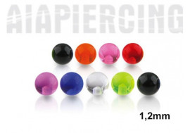 Accessoire piercing bille acrylique 1,2mm
