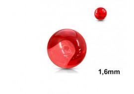 Accessoire piercing bille acrylique rouge 1,6mm