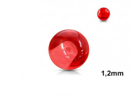 Accessoire piercing bille acrylique rouge 1,2mm