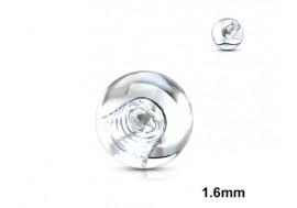 Accessoire piercing bille acrylique transparente 1,6mm