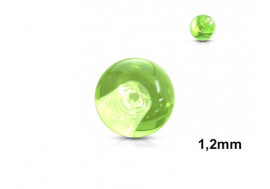Accessoire piercing bille acrylique vert 1,2mm