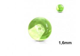 Accessoire piercing bille acrylique vert 1,6mm