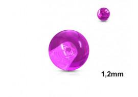 Accessoire piercing bille acrylique violet 1,2mm