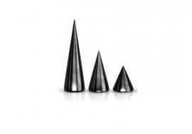 Accessoire piercing pic noir anodisé 1.2mm