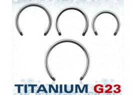 Piercing accessoire fer à cheval titane 1,2mm