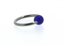 Piercing anneau BCR acrylique bleu