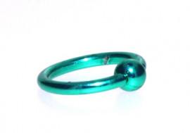 Piercing anneau BCR vert