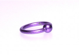 Piercing anneau BCR violet