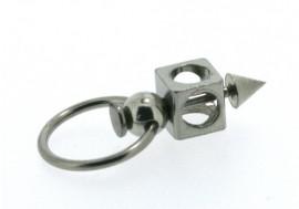 Piercing anneau labret spike