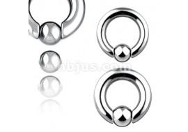 Piercing anneau BCR gros jonc boule clipsée
