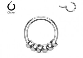 Piercing anneau boule acier