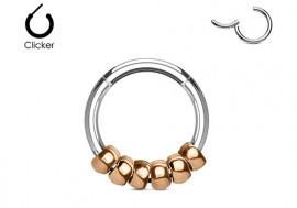 Piercing anneau boule plaqué or rose