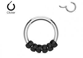 Piercing anneau boules noire