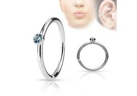 Piercing anneau de nez strass turquoise