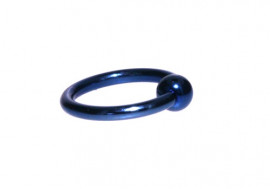 Piercing anneau BCR bleu