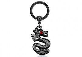 Piercing anneau BCR Dragon noir