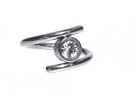 Piercing anneau spirale Blanche